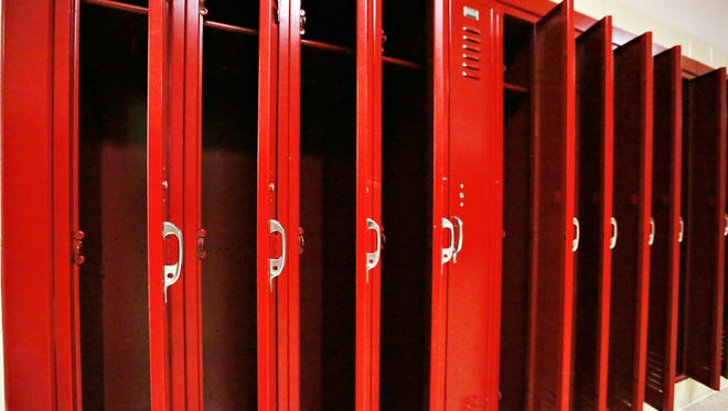 Lockers are shown at Dover Area High School in Dover Township, Thursday, Oct. 5, 2017. Dawn J. Sagert photo