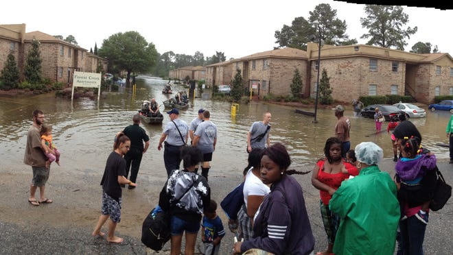 Forest Creek Apartments hit hard by flooding again.