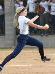 Bay Port senior pitcher Bailey Smaney this season has