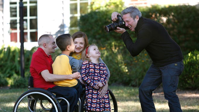 Former fashion photographer Rick Guidotti shoots the Ayers Family of Mason: Kara and Adam Ayers have a genetic condition called Osteogenesis Imperfecta, which results in short stature.