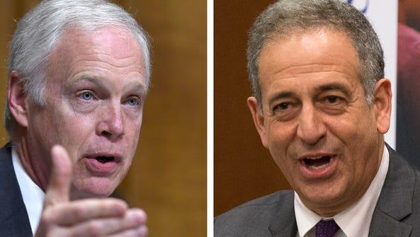 U.S. Sen. Ron Johnson (left), a Republican, faces an