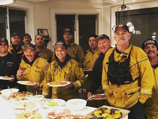 Rob Lowe and Firefighters