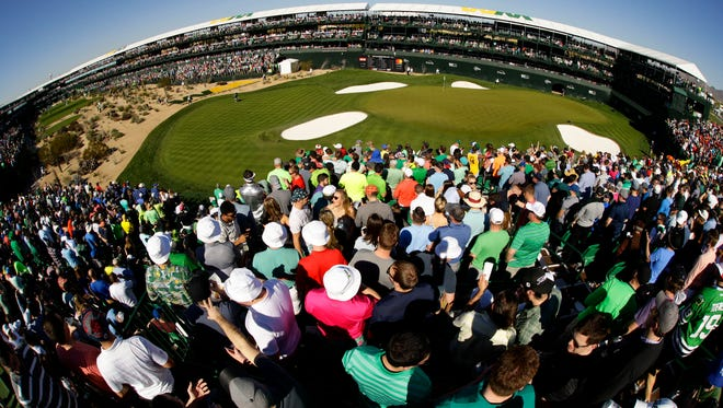 A view of the 16th hole during the third round at TPC Scottsdale on Feb. 4, 2017, at Waste Management Phoenix Open in Scottsdale.