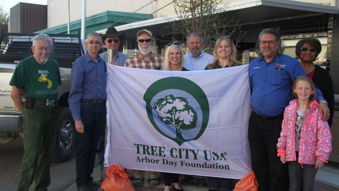 Carlsbad residents and members of the city's Arbor Day City Tree Foundation celebrate Arbor Day Tuesday, March 20, 2018.