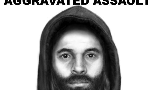Sketch of suspect in connection to Chesterfield stabbing.