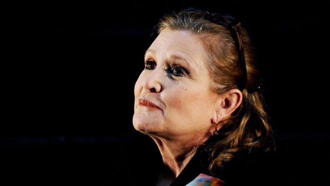 A June 2013 photo of Carrie Fisher.