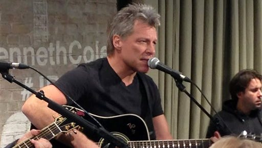 Bon Jovi performs in New York on Thursday as part an acoustic music series, Common Thread, an initiative created by the award-winning singer-songwriter, and fashion designer Kenneth Cole.