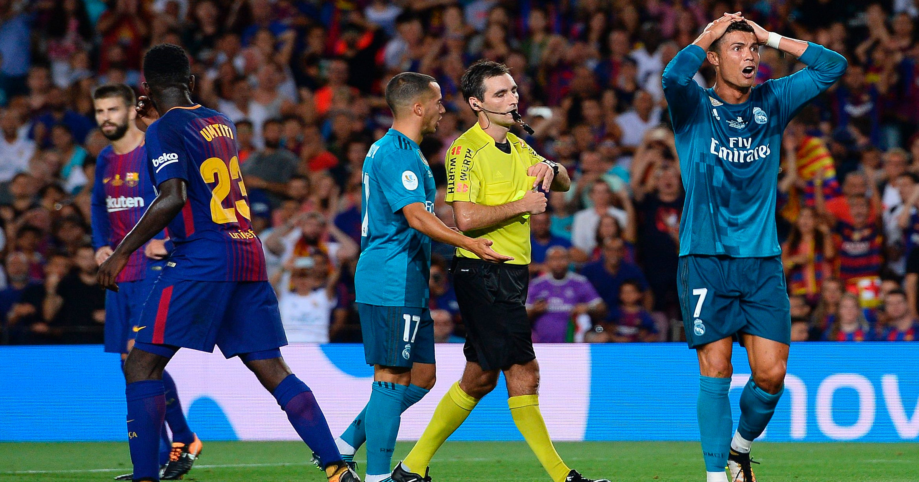 Cristiano Ronaldo hit with five-match suspension for pushing referee b9c860220