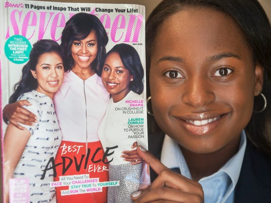 local student meets with First Lady