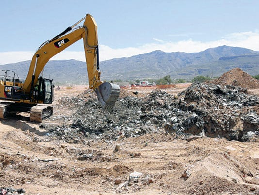 The landfill operated by the city of Alamogordo for two solid waste authorities was denied a permit renewal, but state officials are working with local representatives to resolve issues, and the landfill continues to operate.