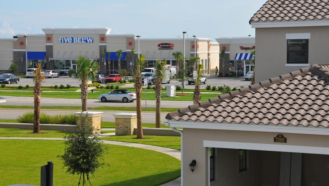 A future trend is homes and  apartments near stores and shopping. Homes in Arrivas Village across from the stores in Viera Shops.