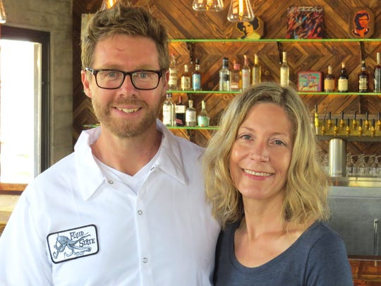 Aaron Duncan and Jen Schwertman are co-owners of Fluid State Beer Garden in downtown Ventura.
