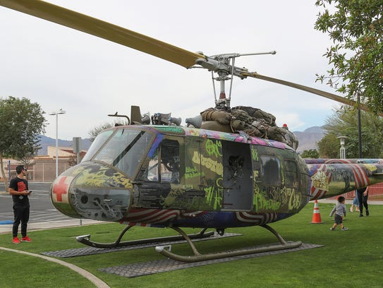 A helicopter that was shot down in the Vietnam War