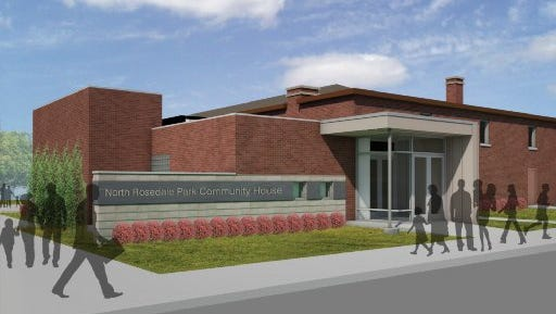 This is an architect's rendering of the expanded North Rosedale Community House in Detroit.Credit: Constantine George Pappas AIA. Received, Sept. 2014