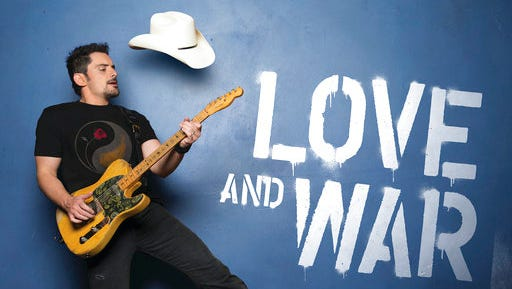 """This cover image released by Arista Nashville shows """"Love and War,"""" the latest release by Brad Paisley."""