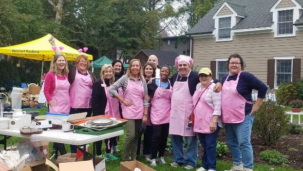 Weichert's Princeton office held a yard sale on Oct. 14 and raised $3,000 to benefit the Breast Cancer Resource Center at the Princeton YWCA.