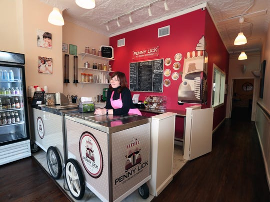 Ellen Sledge at Penny Lick Ice Cream in Hastings-on-Hudson
