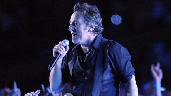 Bruce Springsteen & the E Street Band performs during