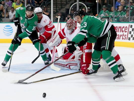 Mattias Janmark was drafted by the Red Wings, but he's now scoring goals for the Dallas Stars.
