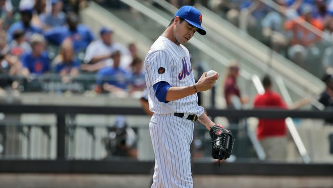 New York Mets relief pitcher Anthony Swarzak entered Wednesday with a 6.28 ERA this season after allowing three runs in one-third of an inning in Tuesday's 8-6 loss to the Blue Jays.