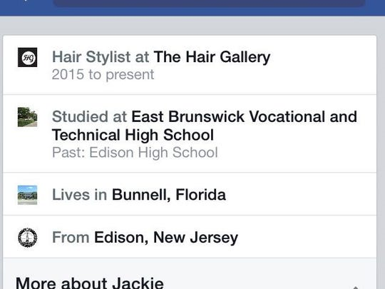 According to her Facebook page, Russomanno works at