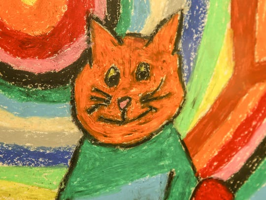A third grade painting by Chris Hamilton, the son of