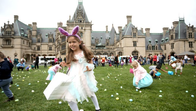 Nicole Calderon takes part in the Easter Egg Hunt at Biltmore Estate in 2016.