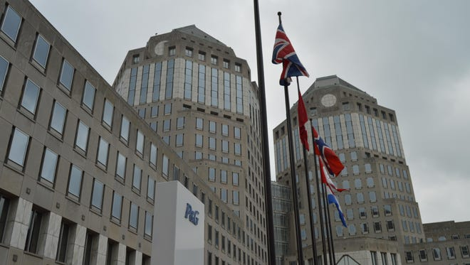 The twin towers of Procter & Gamble's worldwide headquarters in downtown Cincinnati.