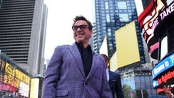 Robert Downey Jr. in Times Square on April 24, 2015,