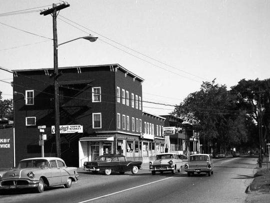 Historic view of Colodny's market on North Avenue.
