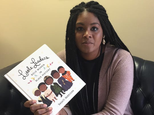 Author and illustrator Vashti Harrison speaks about her award-winning first book on Monday, Nov. 6, 2017 in Onancock, Virginia.