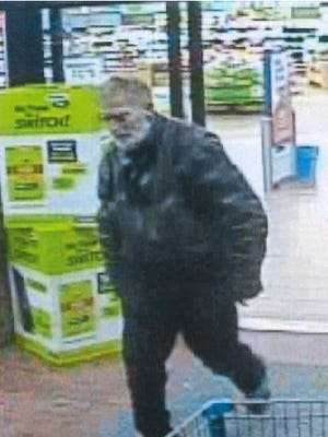 Asheville police are searching for a suspect who stole a wallet and credit cards March 12.