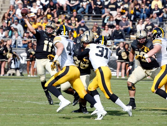 Oct 15, 2016; West Lafayette, IN, USA; Purdue Boilermakers