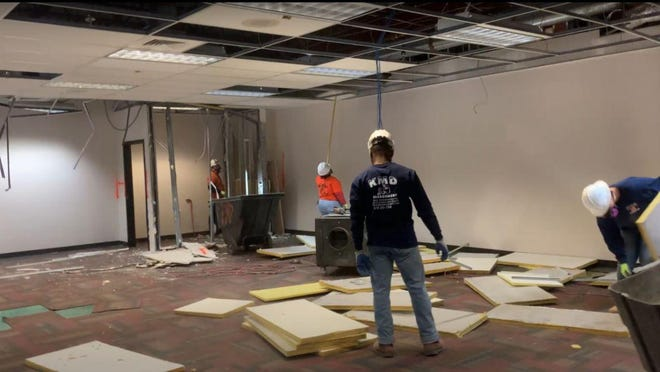 Work began this month on a building that will be renovated to house the new adoption center for the Athens Area Humane Society.