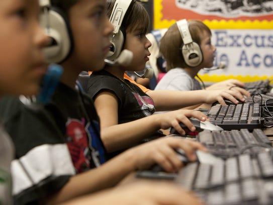 A classroom full of Washington Elementary School kindergartners