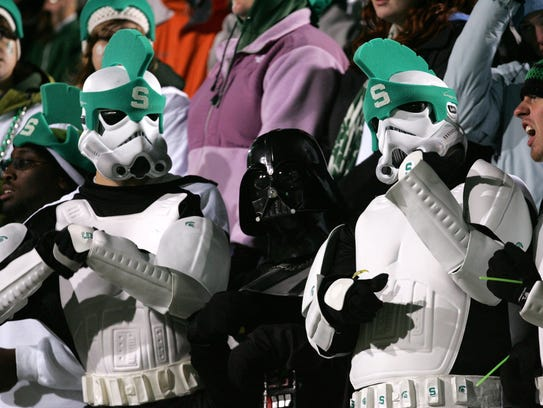 Michigan State fans dressed in Star Wars gear on October