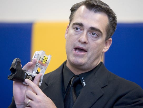 Taser CEO Rich Smith, before the Phoenix City Council