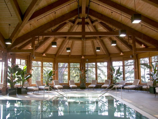 The 30,000-square-foot spa wing with indoor and outdoor