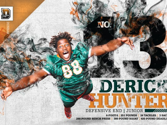 Derick Hunter Defensive End Dunbar  #13 The Big 15