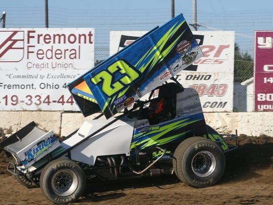D.J. Foos finished in the Top 10 nine times at Fremont Speedway in 2017.