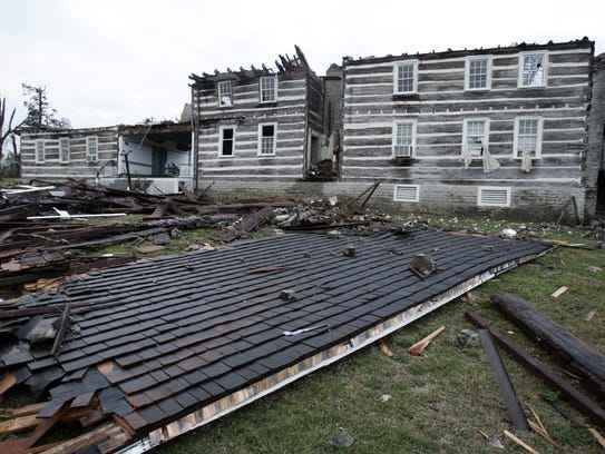 Wynnwood State Historic Site was destroyed by a tornado