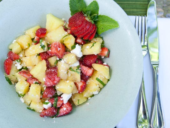 Watermelon, strawberry and feta salad offers something sweet, savory ...