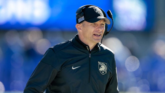 Army football coach Jeff Monken said an unspecified number of players have tested positive for the coronavirus and are in isolation as well as other players due to contact tracing. ISAIAH J. DOWLING/USA TODAY SPORTS