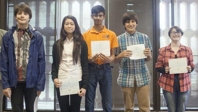 Francesco Sanchez, left to right, Luci King, Gyan Narayan, Seamus Dewane, and Madison Nadler