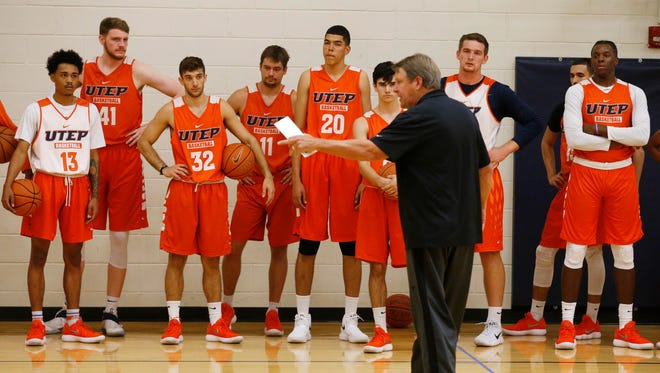 UTEP head coach Tim Floyd calls his team together Monday to make it clear that court is now in session for the 2017-18 basketball season. With plenty of new faces and talent, Floyd said he feels the team is a lot deeper and more talented than last year, adding he is looking forward to the season.