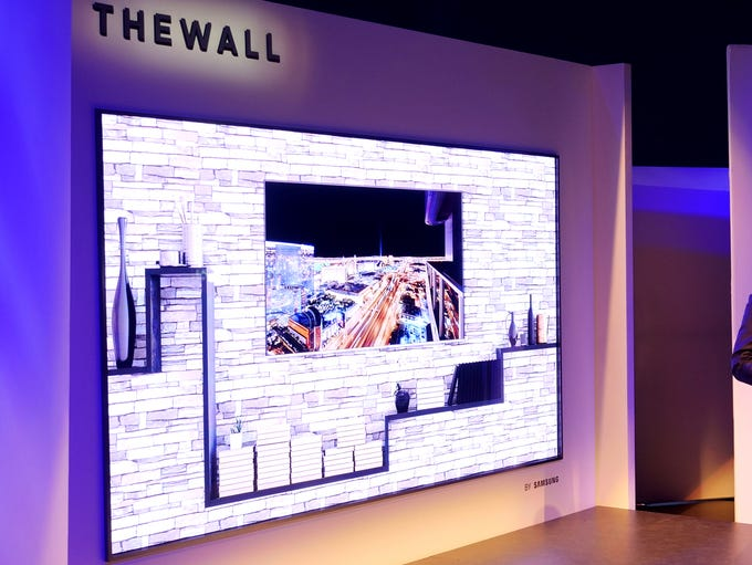 "The Samsung ""The-Wall"" MicroLED TV"
