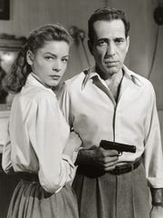 """A publicist still from """"Key Largo,"""" the last film featuring both Lauren Bacall and Humphrey Bogart."""