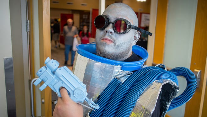 Isaac Love from Las Cruces poses as Batman villain Mr. Freeze at the 2015 Las Cruces Comic Con. This year's event kicks off Friday at the Las Cruces Convention Center.