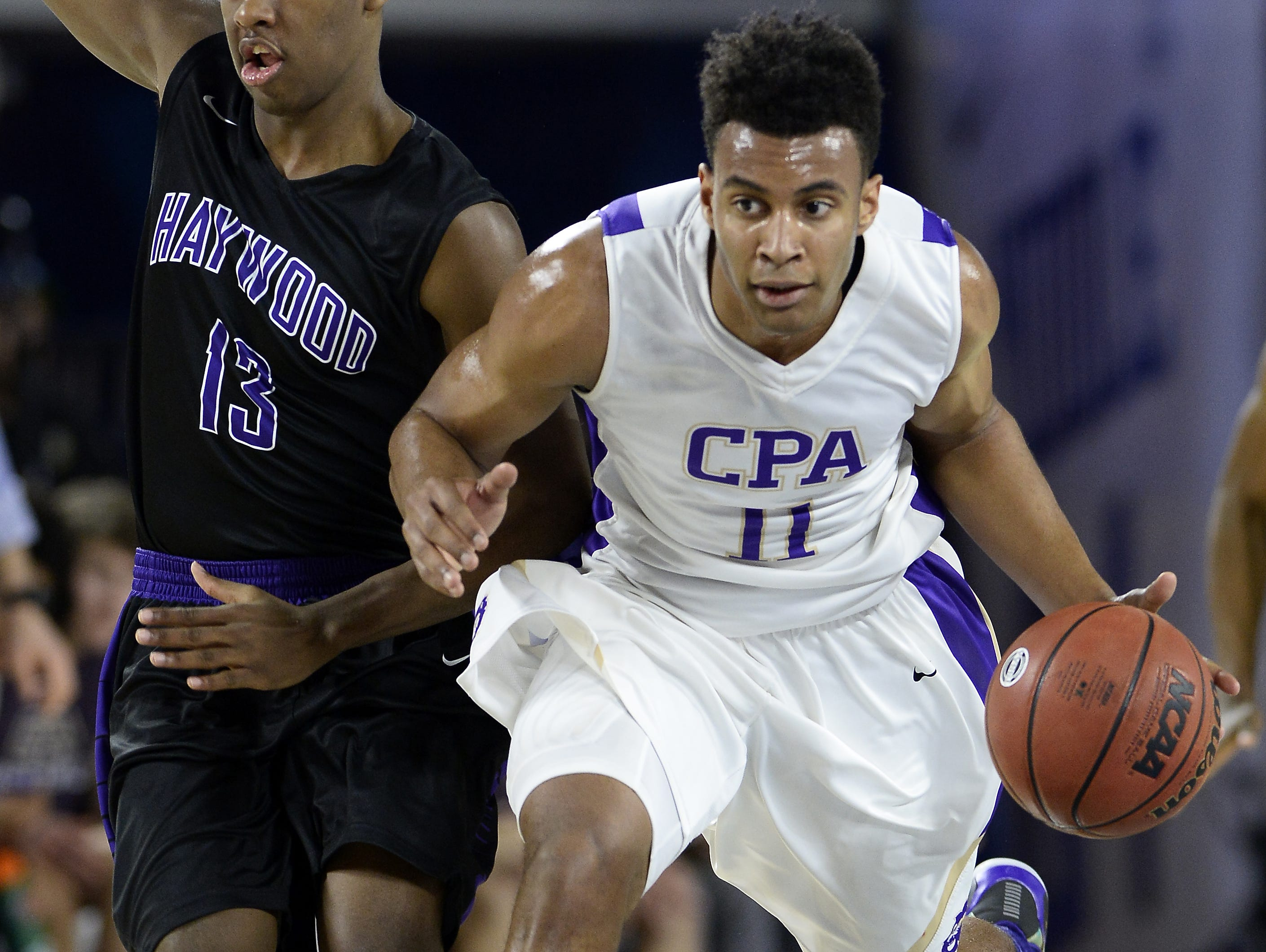 Former CPA standout Braxton Blackwell (right) made his college commitment on Wednesday.