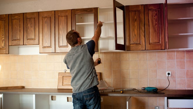 """When a kitchen is professionally designed it is usually designed in a """"work triangle,"""" where the stove, sink and refrigerator form a triangle."""